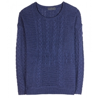 Velvet Jacinda Wool And Cashmere Blend Sweater Indigo