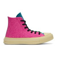 J.W.Anderson Jw Anderson Pink And Green Converse Edition Felt Chuck 70 Hi Sneakers