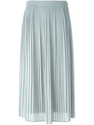 Kenzo Pleated Midi Skirt Grey