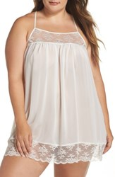 In Bloom By Jonquil Plus Size Women's Chiffon Chemise