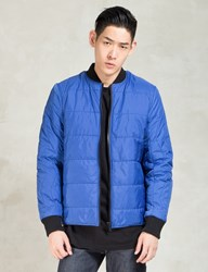 Christopher Raeburn Blue Quilted Bomber