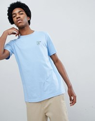 Lee Peace Logo T Shirt Sky Blue