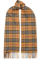 Burberry Checked Cashmere Scarf Beige