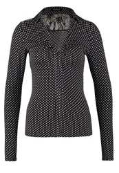 Morgan Toria Long Sleeved Top Noir Ecru Black