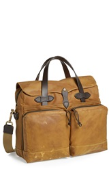 Filson '72 Hour' Tin Cloth Briefcase Tan