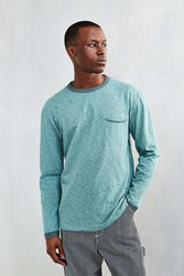 Cpo Delta Plated Slub Long Sleeve Tee Green