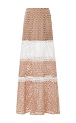 Alexis Laetitia Tiered Skirt Tan