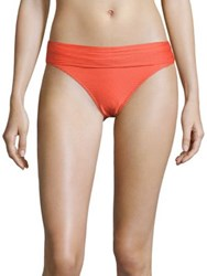 Heidi Klein Cayman Islands Foldover Bottom Red Orange