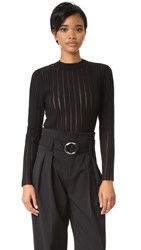 Camilla And Marc Sheer Stripe Knit Sweater Jet Black