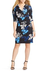 Plus Size Women's Lauren Ralph Lauren Cowl Neck Floral Matte Jersey Dress