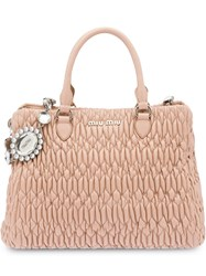 Miu Miu Iconic Crystal Tote Nude And Neutrals