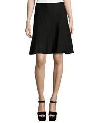 Max Studio A Line Sweater Knit Skirt Black