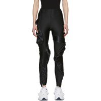 Comme Des Garcons Black Zipped Protrusion Leggings
