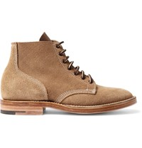Viberg Boondocker Suede Lace Up Boots Brown