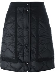 Moncler Quilted A Line Skirt Black