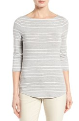 Nordstrom Women's Collection Stripe Boat Neck Tee