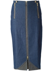 Christian Dior Vintage Midi Denim Skirt
