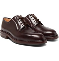 George Cleverley Archie Cordovan Leather Derby Shoes Burgundy