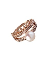Bcbgeneration Pearl Group Faux Pearl Ring Rose Gold