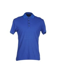 Vneck Polo Shirts Blue