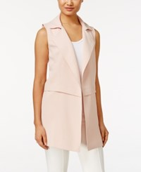 Calvin Klein Long Moto Vest Blush