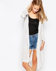 Warehouse Long Belted Cardi Stone