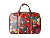 Sakroots Artist Circle Critter Travel Case Crimson Flower Power Travel Pouch Red