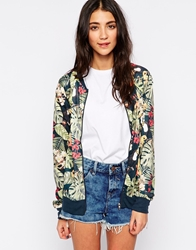 Brave Soul All Over Palm Print Bomber Jacket Palmprint