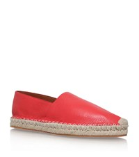 Valentino Pebbled Leather Espadrille Male Red