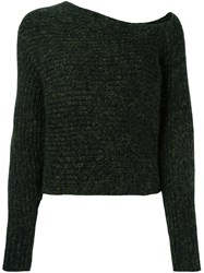 Alexander Wang T By Asymmetrical Jumper Green