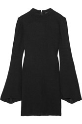 Ellery Duckie Stretch Knit Mini Dress Black