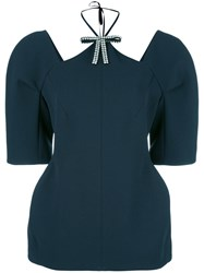 Marni Structured Cut Out Blouse Blue