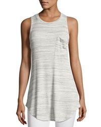 Nytt Marble Ribbed Muscle Tunic Light Gray