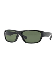 Ray Ban Sport Wrap Sunglasses Green