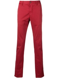Incotex Straight Leg Trousers Red
