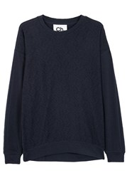 Chapter Rist Navy Cotton Blend Jumper