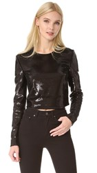Diane Von Furstenberg Sequin Shell Top Black