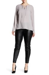 Hue Leatherette Legging Plus Size Black
