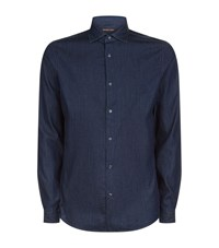 Michael Kors Denim Slim Fit Shirt Male Midnight