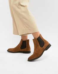 Selected Leather Chelsea Boots Brown