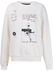 Enfants Riches Deprimes 'Devil May Care' Sweatshirt White