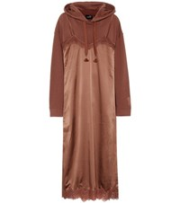 Fenty By Rihanna Cotton Blend Hoodie And Slip Dress Brown