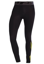2Xu Accelerate Tights Black Arrow Lime Punch
