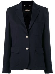 Les Copains Classic Single Breasted Blazer Blue