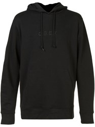 Obey Embroidered Logo Hoodie Black