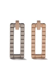Chopard 18Kt Rose And 18Kt White Gold Ice Cube Earrings Fairmined Rose Gold Fairmined White Gold 150