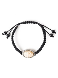 Amedeo Pirate Cameo Bracelet Black