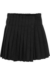 Isabel Marant Kib Pleated Cotton Mini Skirt Black