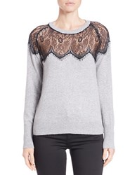 Buffalo David Bitton Lace Accented Knit Sweater