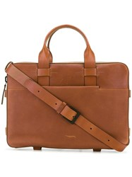 Troubadour Laptop Bag Men Calf Leather One Size Brown